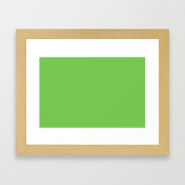 GREEN FLASH PANTONE 15-0146 Framed Art Print