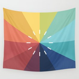 Modern Color Wheel Wall Tapestry