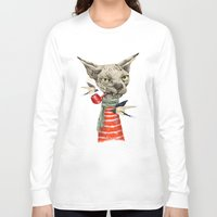 jazzberry Long Sleeve T-shirts featuring Sphynx cat by dogooder