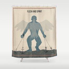 Flesh and Spirit Shower Curtain