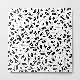 Pandas x 9999 (Patterns Please) Metal Print