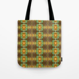 Bohemian mint and brown pattern Tote Bag