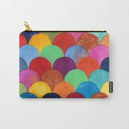 Bright and Colorful Watercolor Scales Pattern Carry-All Pouch