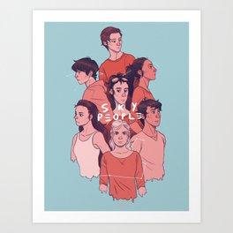 Sky People Art Print