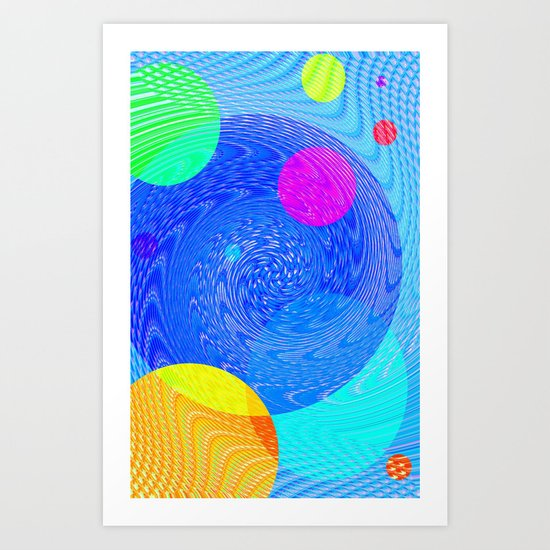 Re-Created Twisters No. 5 by Robert S. Lee Art Print