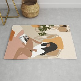 Abstract Woman Painting Rug