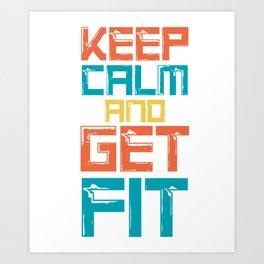Fit Health Fitness Training Cardio Art Print