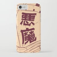 demon iPhone & iPod Cases featuring DEMON by andbloom