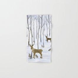 Winter Deer Hand & Bath Towel