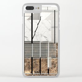 Architectural Painting Clear iPhone Case