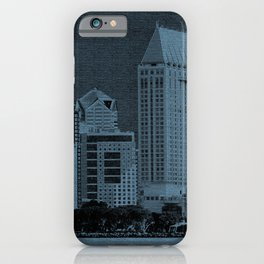 San Diego In Deep Blue iPhone Case