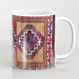 Kazak  Antique South West Caucasus Tribal Rug Coffee Mug