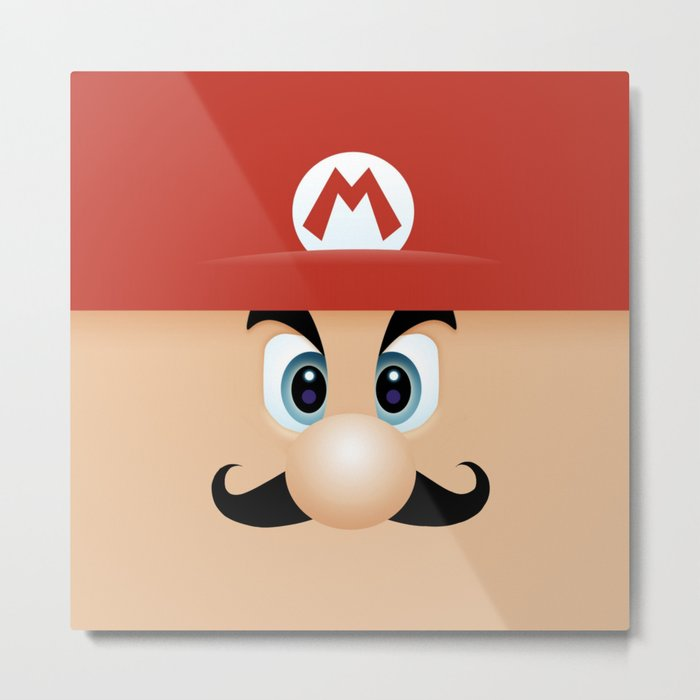Mario With Cool Mustache Metal Print