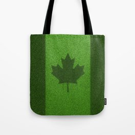 Grass flag Canada / 3D render of Canadian flag grown from grass Tote Bag