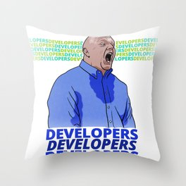 Steve Ballmer: Developers Developers! Throw Pillow
