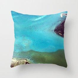 Jeweled Seaway Throw Pillow