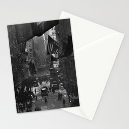 Germany Surrenders Parade - Wall Street - WW1 - 1918 Stationery Cards