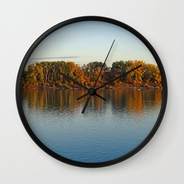 river danube Wall Clock