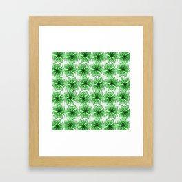 Seven Point Stars Framed Art Print