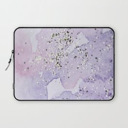 Pastel Glitter Watercolor Painting Laptop Sleeve