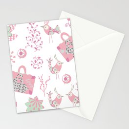 Travel pattern 2 Stationery Cards