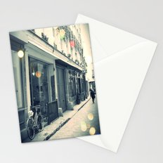 Bicycle and cobblestone Stationery Cards
