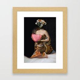 Tiger Bride Framed Art Print