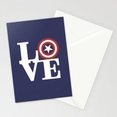LOVE, Cap. America Hero Stationery Cards