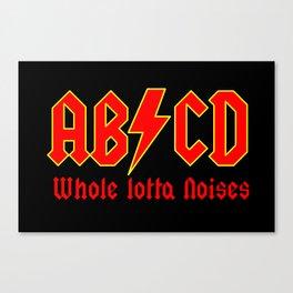 ABC, a heavy metal parody Canvas Print