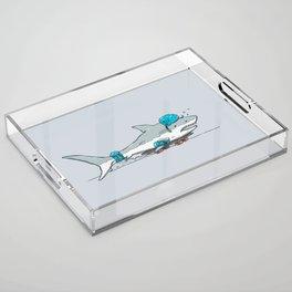 The Shark Skater Acrylic Tray