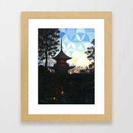 Kyoto Kaleidoscape Framed Art Print