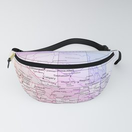 World Map North America Fanny Pack
