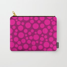 Raspberry pink polka dots . Carry-All Pouch