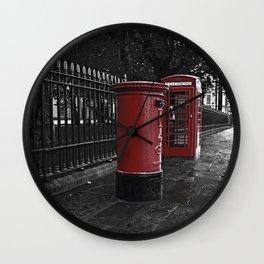 London Phone Box And Royal Mail Postal Box Wall Clock