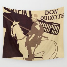 Beggarstaffs art Vintage Don Quixote Lyceum Theatre ad Wall Tapestry