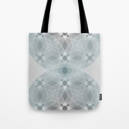 Colliding Circles in Teal and Grey Tote Bag