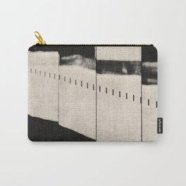 NOIR ABSTRACT / Distorted Carry-All Pouch