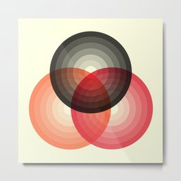Three colour circles, inspired by Lacouture's Répertoire chromatique Metal Print