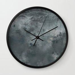 Dark grey letter vintage batic look Wall Clock