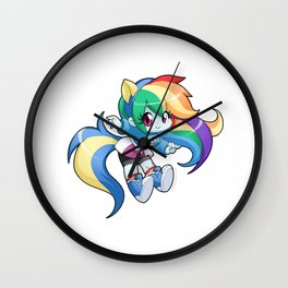 Rainbow Dash - Shake the tail Wall Clock