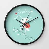 explore Wall Clocks featuring Explore by Freeminds