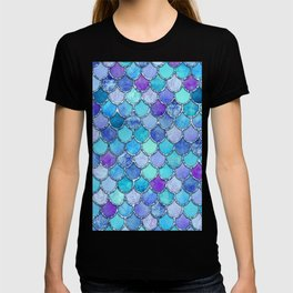 Colorful Blues Mermaid Scales T-shirt