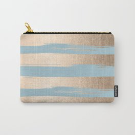 Painted Stripes Gold Tropical Ocean Sea Blue Carry-All Pouch
