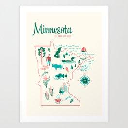 Minnesota State Love Art Print