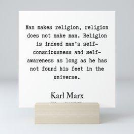 51  | Karl Marx Quotes | 190817 Mini Art Print