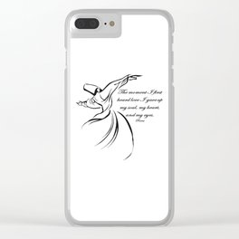 The Moment I First Heard Love I Gave Up My Soul Rumi Quote Clear iPhone Case