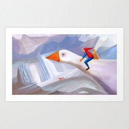 The Wonderful Adventures of Nils Art Print