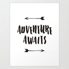 Adventure Awaits Art Print  Art Print