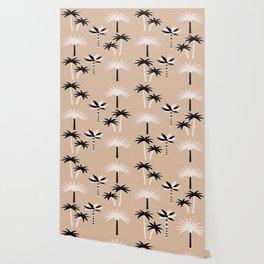 Palm Trees - Neutral Black & White Wallpaper