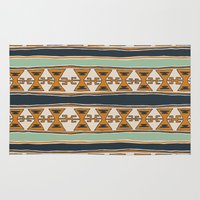 cleveland Area & Throw Rugs featuring Cleveland 2 by Little Brave Heart Shop